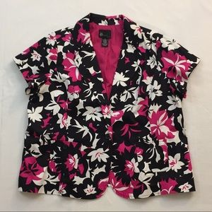 Plus Size 2X First Option Too Floral Blazer